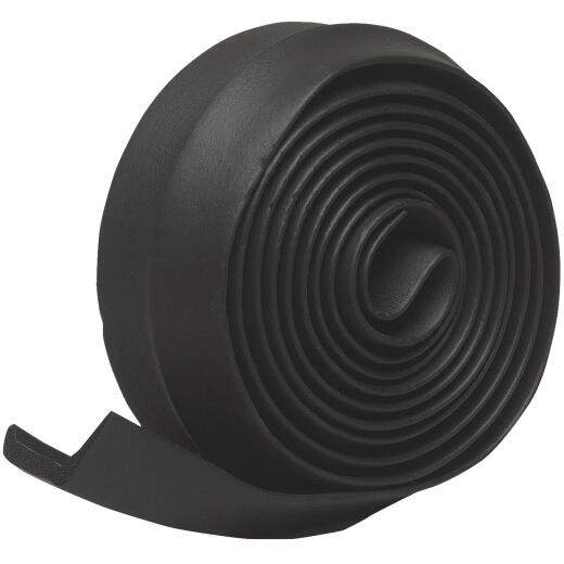 Do it 2-1/4 In. x 9 Ft. Black Rubber Weatherstrip Garage Door Seal