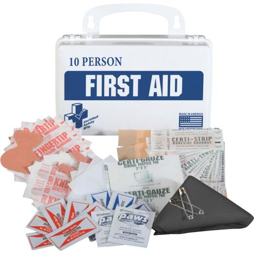 Certified Safety 10-Person First Aid Kit (55-Piece)