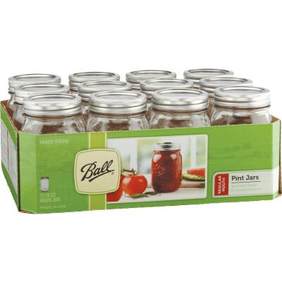 Ball 1 Pint Regular Mouth Mason Canning Jar (12-Count)