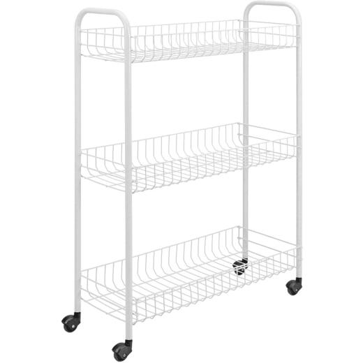 Metaltex 3-Tier Slim Rolling Storage Cart